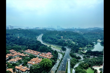 View from hotel in Kuala Lumpur.